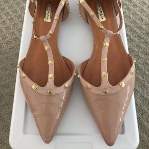 Halogen 'Olson' Pointy Toe Studded Flat (sz 9.5)